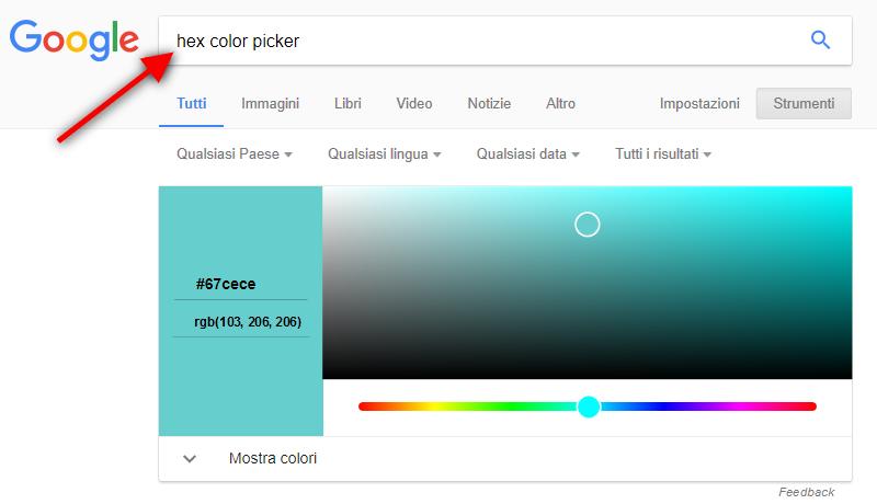 trocare colore esadecimale