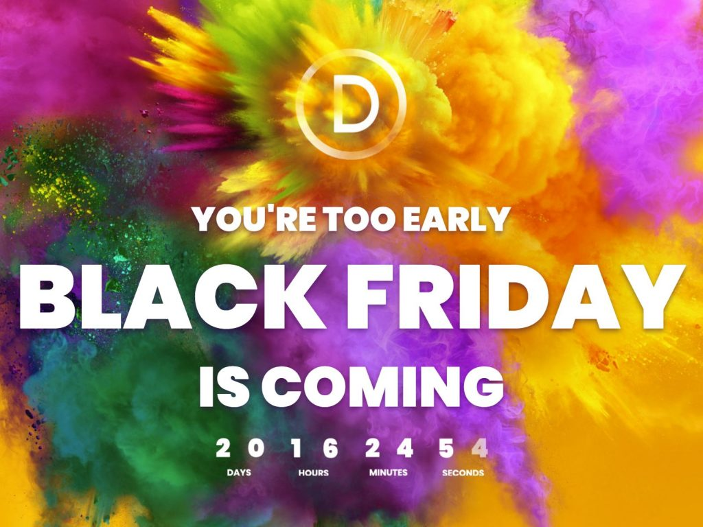 divi a sconto per il black friday