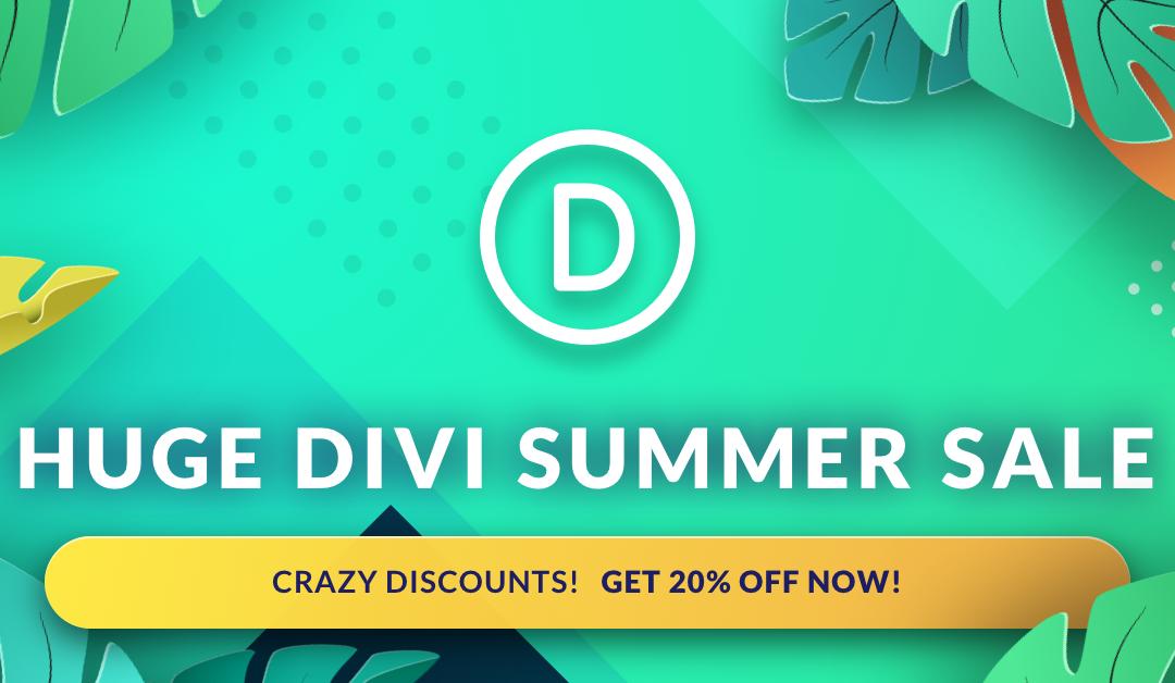Acquista Divi a prezzo di saldo con la Summer Sale!