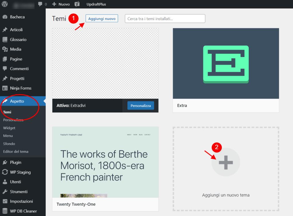 cone installare un tema wordpress