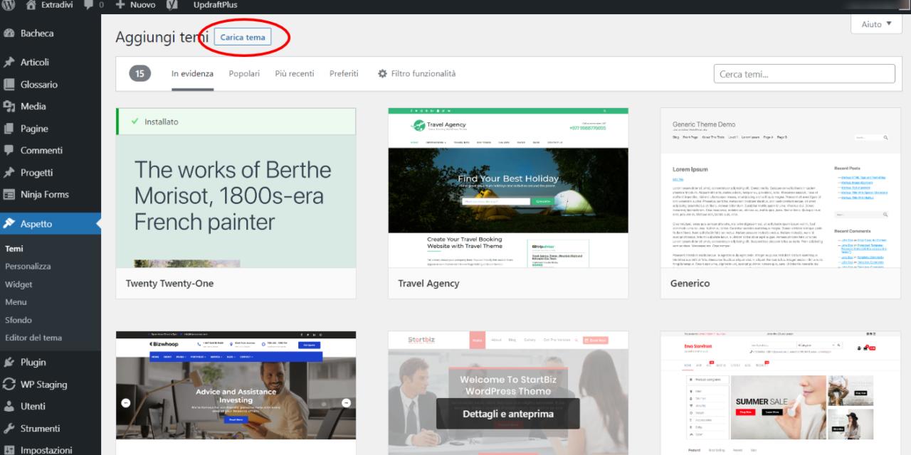 Come installare Divi o Extra (o un tema qualsiasi) sul proprio sito WordPress